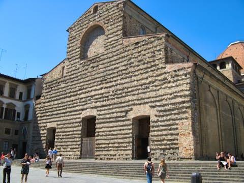 San Lorenzo Church In Florence Italy Medici Chapels In San