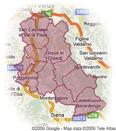 Tuscany Italy Map Of Area.Chianti Map Chianti Tuscany Map Chianti Classico Map