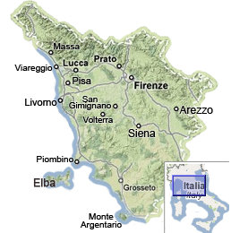 Tuscany Map Map Of Tuscany Italy