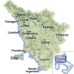 Map Of Italy Showing Pisa.Tuscany Map Map Of Tuscany Italy