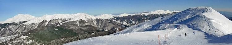 Panoramic view of the Abetone and the surrounding peaks
