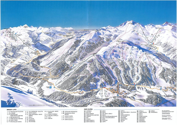 Ski Map for Abetone