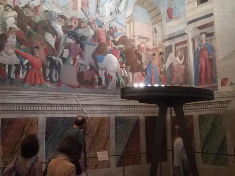 Details from the Fresco in Basilica San Francesco in Arezzo