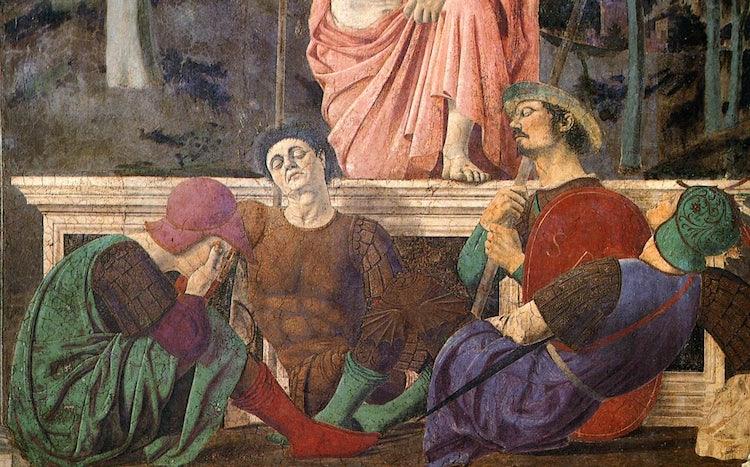 Possible self-portrait of Piero della Francesca at Sansepolcro