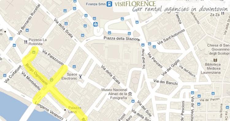 Car rental agencies in downtown Florence