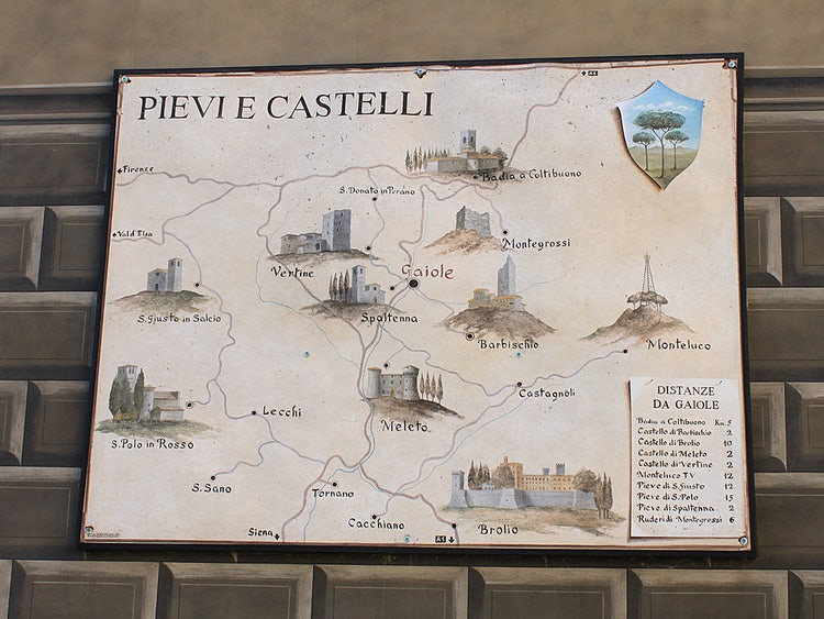 Map of Gaiole in Chianti