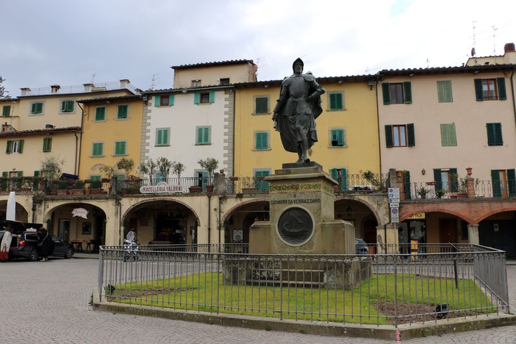 Main Square in Greve in Chianti