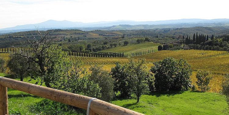 the landscape near san Gusme