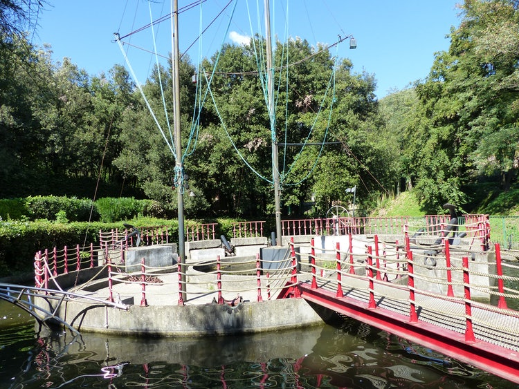 Play activities at the Pinocchio Park at Collodi, in Pistoia