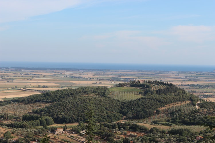 Panoramic view from Castagneto Carducci