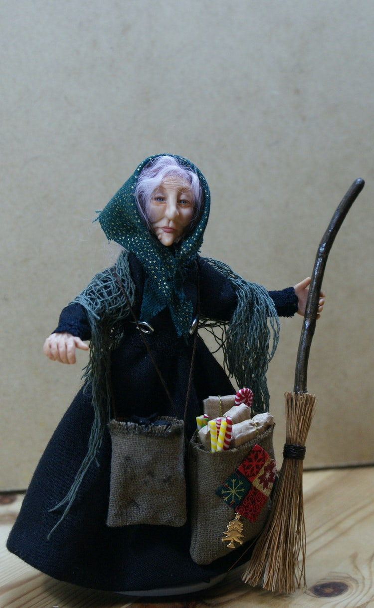 The Befana comes in January bring candy and gifts
