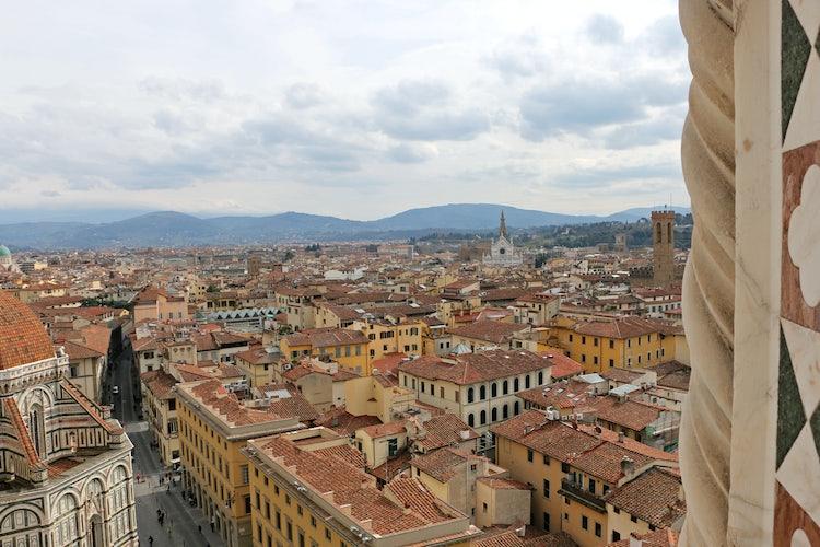 Una delle vedute panoramiche dal Campanile di Giotto