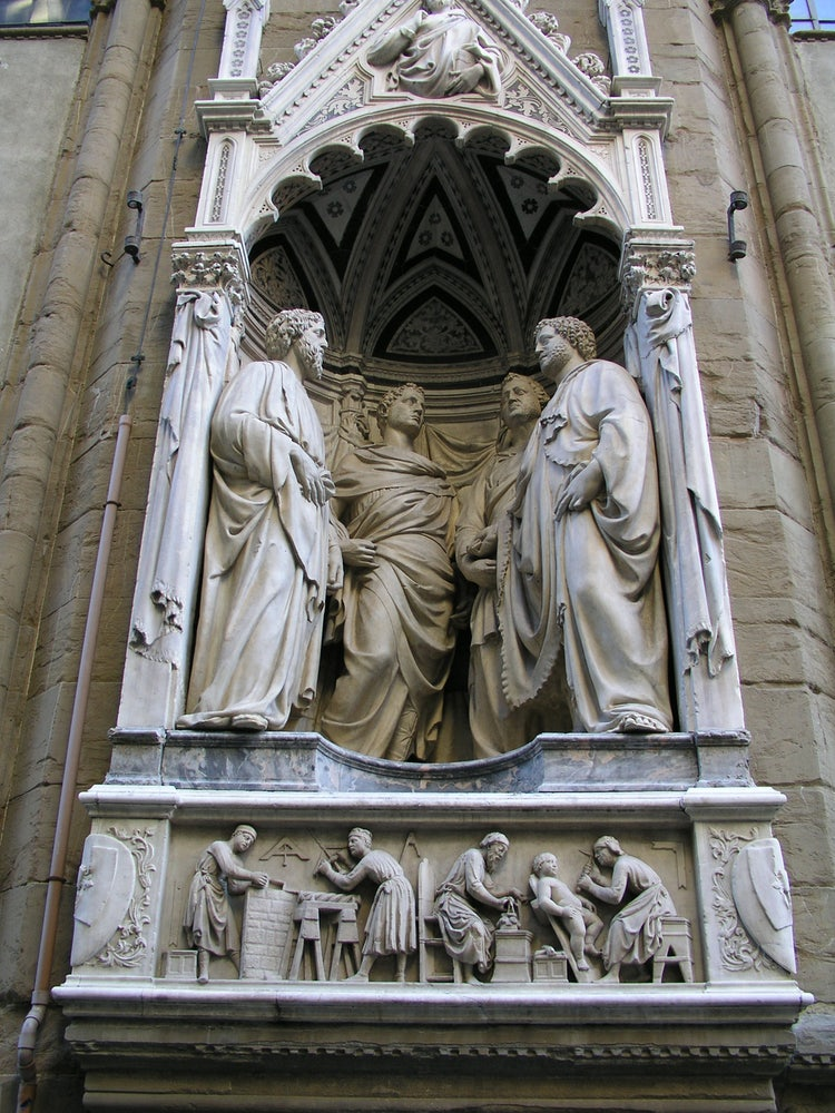Orsanmichele Church Florence, Italy. Decorated with patron saints.
