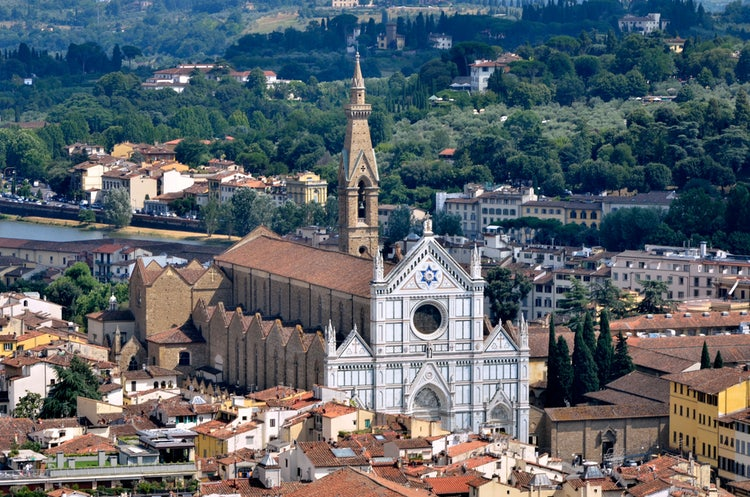 Santa Croce Church in Florence, Italy and Museum Complex of Santa Croce