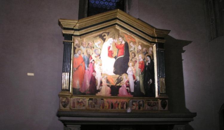 Crowned Virgin by Bicci di Lorenzo in Santa Trinita