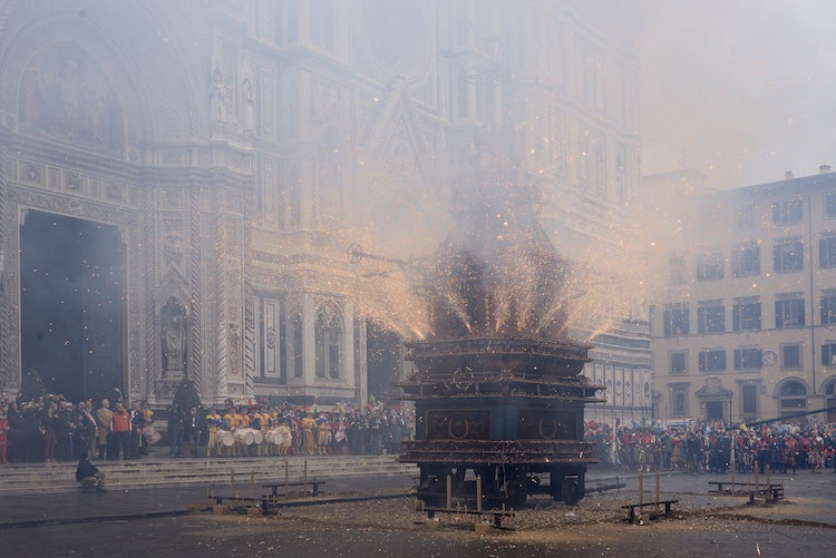 Explosion of the Cart in Florence on Easter Sunday
