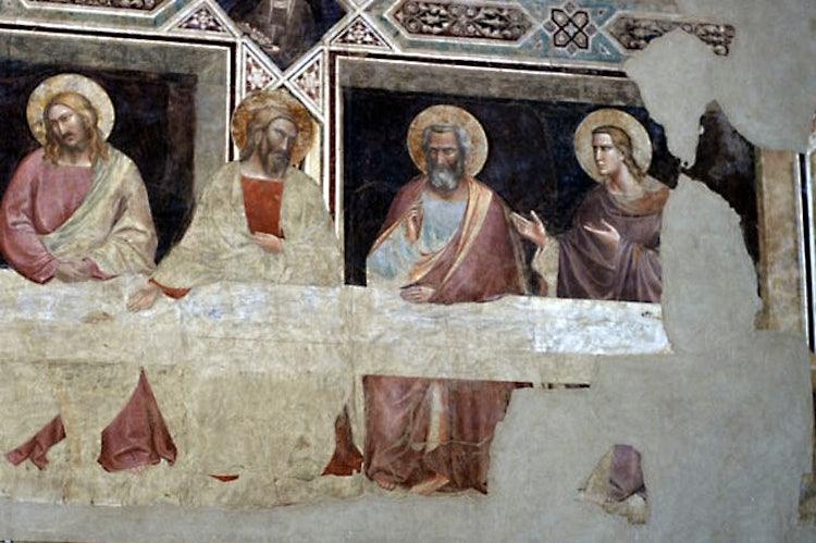 La parte di destra del Cenacolo di Santa Croce a Firenze, Toscana