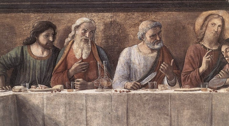 Last Supper or Cenacolo at Ognissanti in Florence, Tuscany
