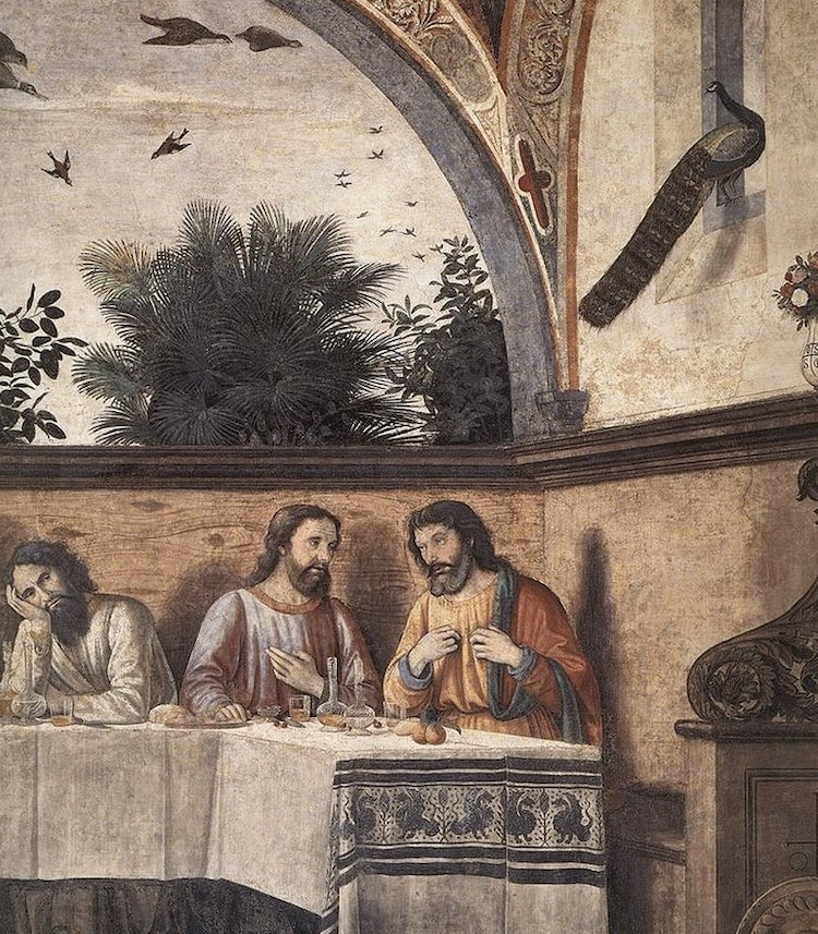 Note the details in the Last Supper at Ognissanti