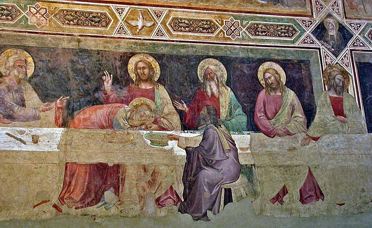 Detail from Cenacolo at Santa Croce in Florence, Tuscany