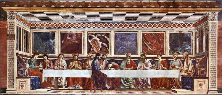Last Supper or Cenacolo at Sant'Apollonia in Florence, Tuscany