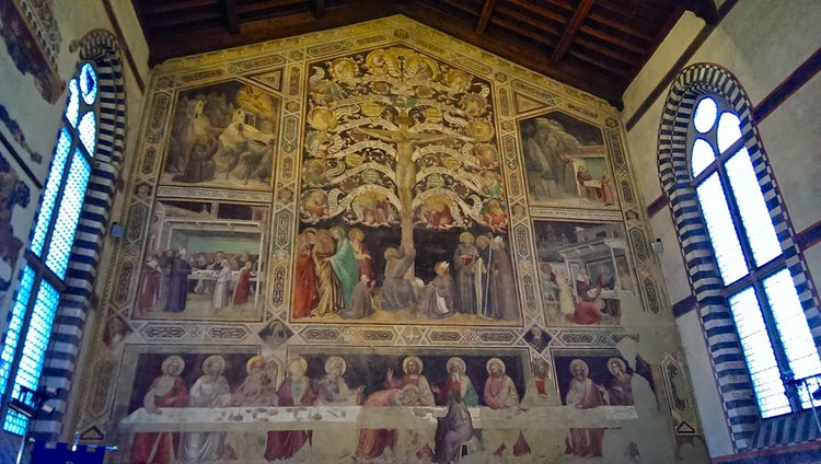 Santa Croce Refectory in Florence Tuscany