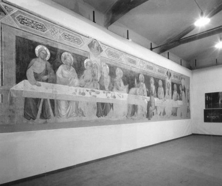 Cenacolo from Santa Croce in restoration in Florence Tuscany