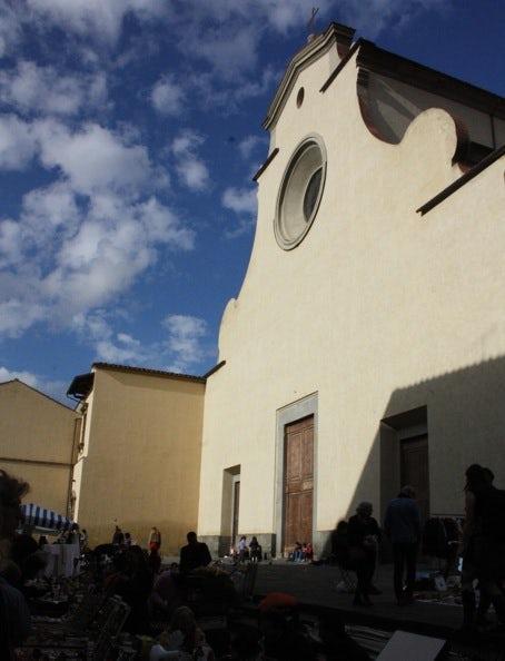 Facade of Santo Spirito in Florence, Tuscany