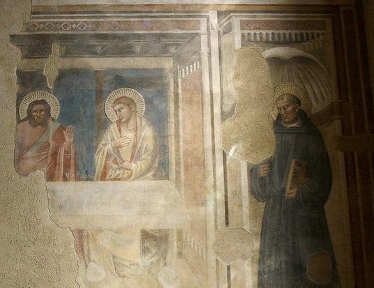 Detail of cenacolo of Santo Spirito in Florence, Tuscany