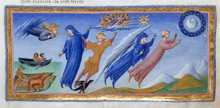 Dante's Divine Comedy as illustrated by Giovanni di Paolo