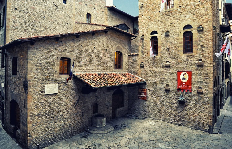 Square in front of Casa di Dante Museum in Florence, Italy