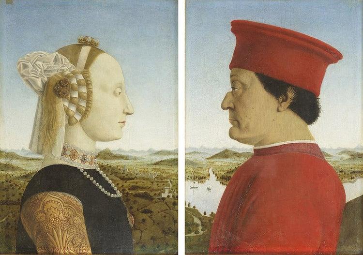 At the Uffizi, Piero della Francesca