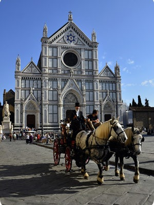 Piazza Santa Croce, Florence Italy