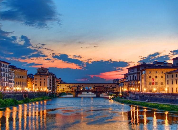 Romanticismo in Toscana, la suggestione di un tramonto