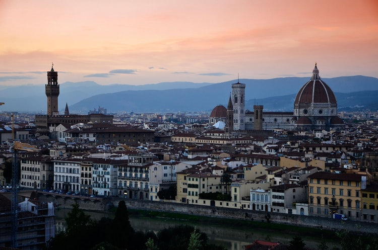 Starting Point for Night Itineraries: Piazzale Michelangelo