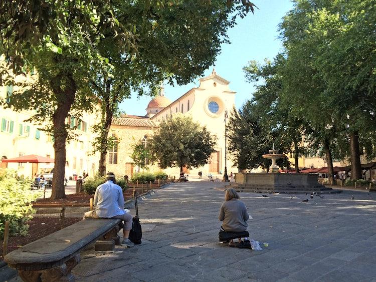 artists in piazza santo spirito