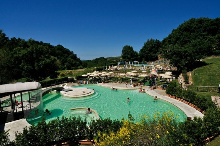 Terme Saturnia Resort in Tuscany near the town and free entrance hotsprings