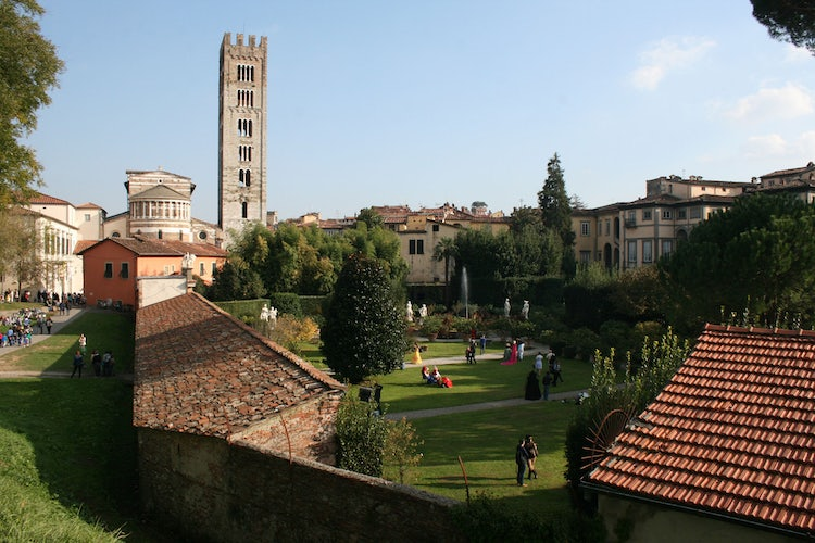 View of Lucca from the city Walls