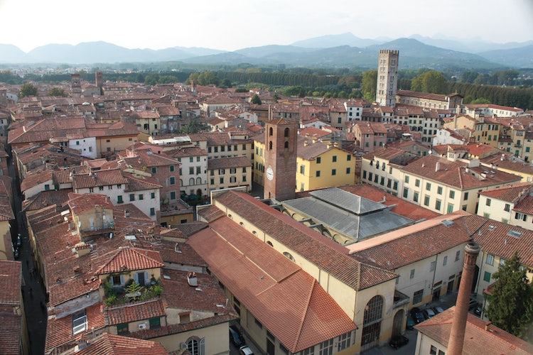 View from above Lucca