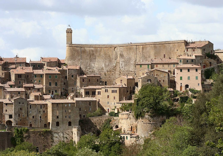 Sorano in southern Tuscany and the Maremma
