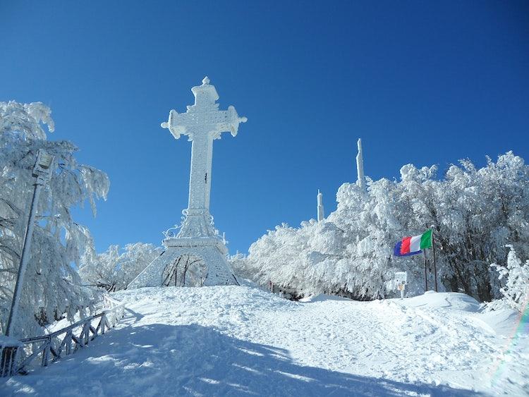 Winter sports at Monte Amiata in Tuscany