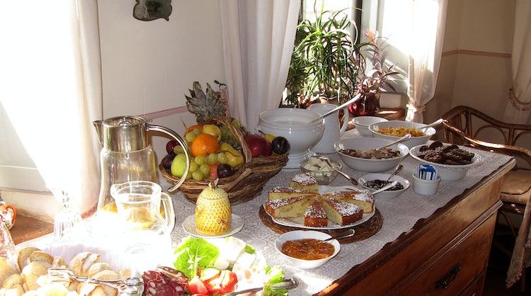 Buffet breakfast at Borgo Argenina