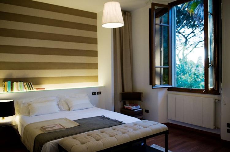 Designer bedroom at Casa Mina