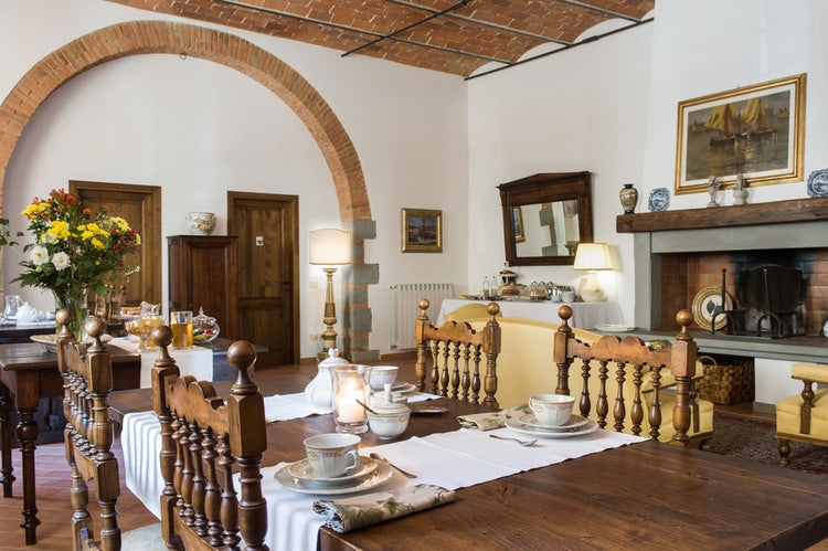 Dining room and Breakfast area Fattoria i Ricci