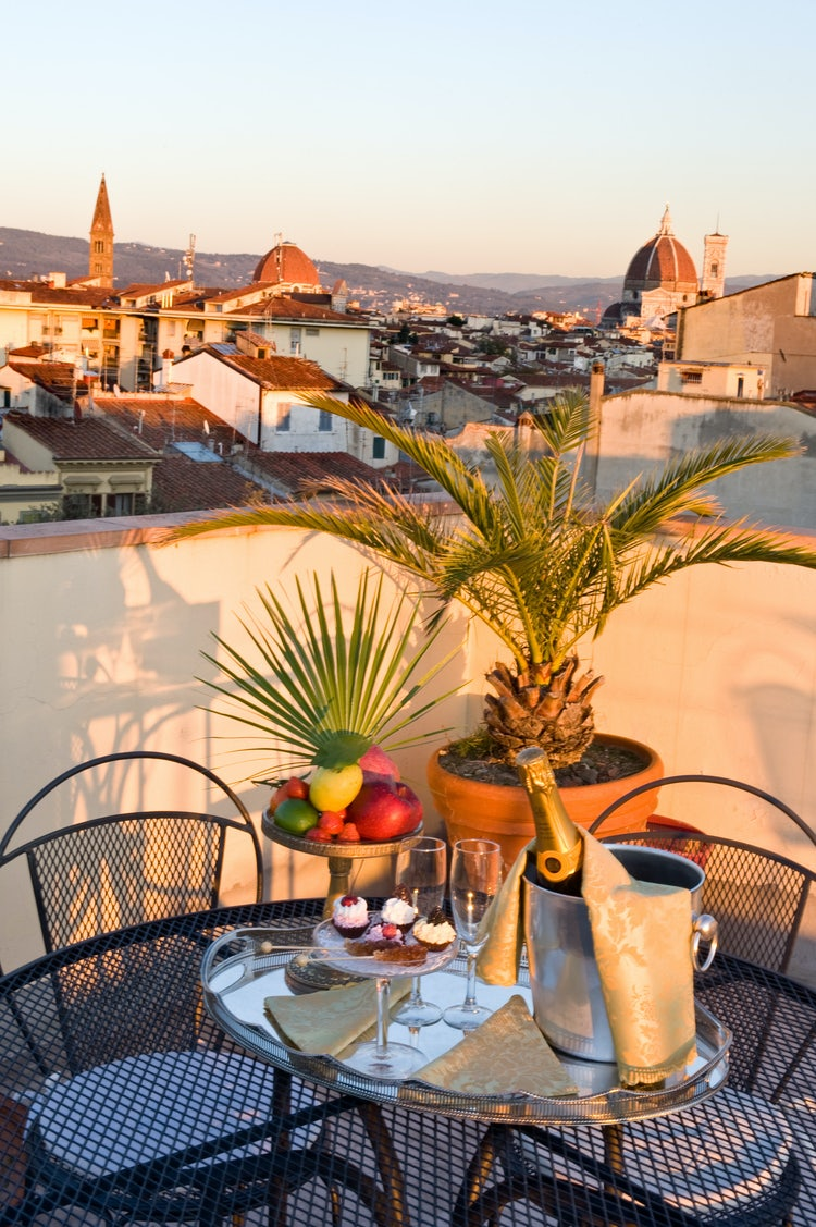 Terrace view over Florence from Hotel Principe