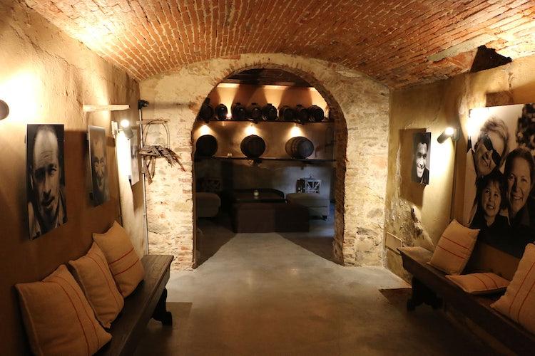 Guest wine cellar at B&B Villa Dianella near Florence Italy