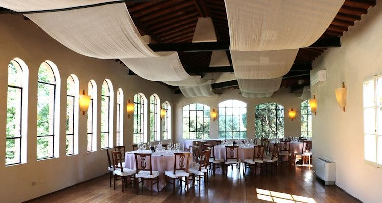 Dining hall at B&B Villa Dianella near Florence Italy