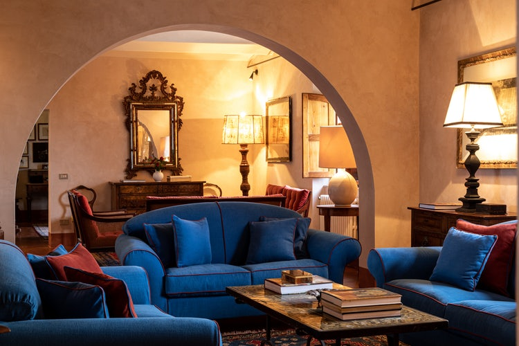 Living room at Villa Piaggia