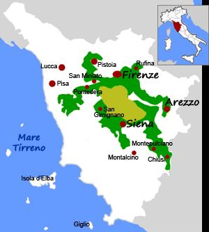 Regione del Chianti in Toscana