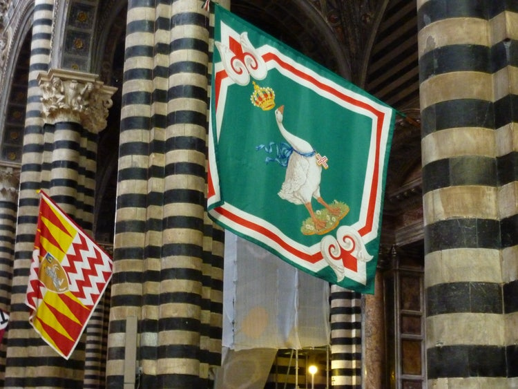 Contrada emblems in Siena
